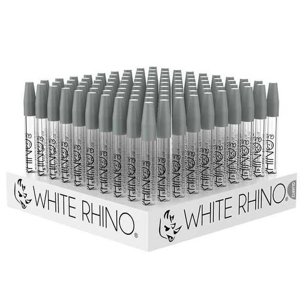 WHITE RHINO GLASS QUARTZ STRAW 100 PACK