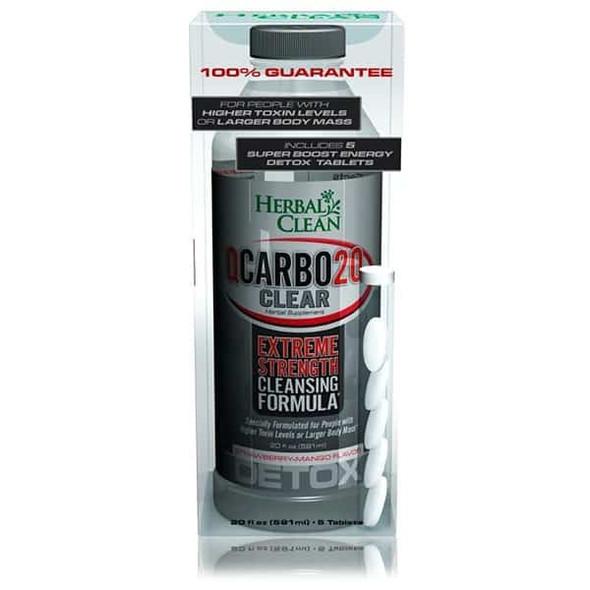 HERBAL CLEAN Q-CARBO CLEAR 20 OZ