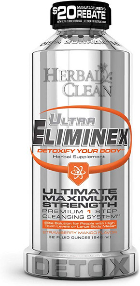 HERBAL CLEAN ULTRA ELIMINEX 32 OZ  DETOX ( MSRP $ 39.99 EACH )