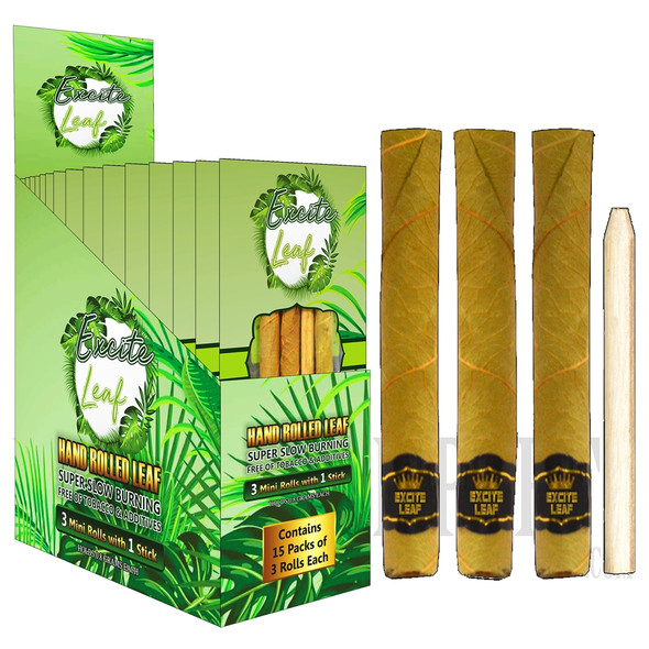 EXCITE LEAF HAND ROLLED ( 15 CT/BOX ) ( EXCITE LEAF-ROLL-ALL) ( MSRP $32.99 PACK )