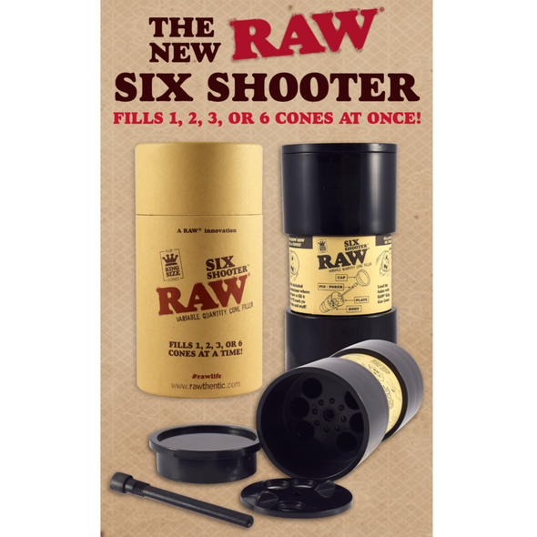 RAW SIX SHOOTER FOR 1 1/4 SIZE CONE ( MSRP $25.99 EACH )