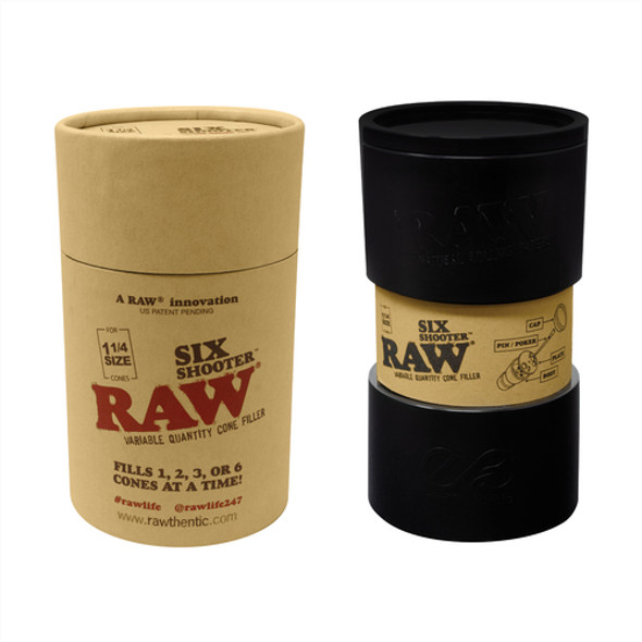 RAW SIX SHOOTER FOR KING SIZE CONE ( MSRP $25.99 EACH )