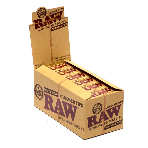 RAW PERFORATED GUMMED TIPS  ( 24CT/ BOX ) ( MSRP $1.99 EACH )