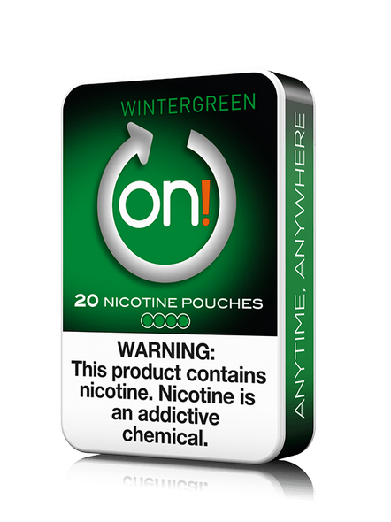 ON! 4MG NICOTINE POUCHES 20CT/5BOXES ( MSRP $6.99 EACH )