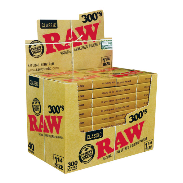 RAW PAPER CLASSIC 1 1/4 300CT 40 IN BOX (MSRP $155.99 PACK )