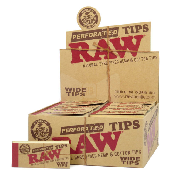 RAW PERFORATED WIDE TIPS 50 CT/BOX ( MSRP  $1.99 EACH )