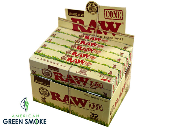 RAW ORGANIC 32 CONE PACK  KINGSIZE 12CT/BOX ( MSRP $11.99 EACH )