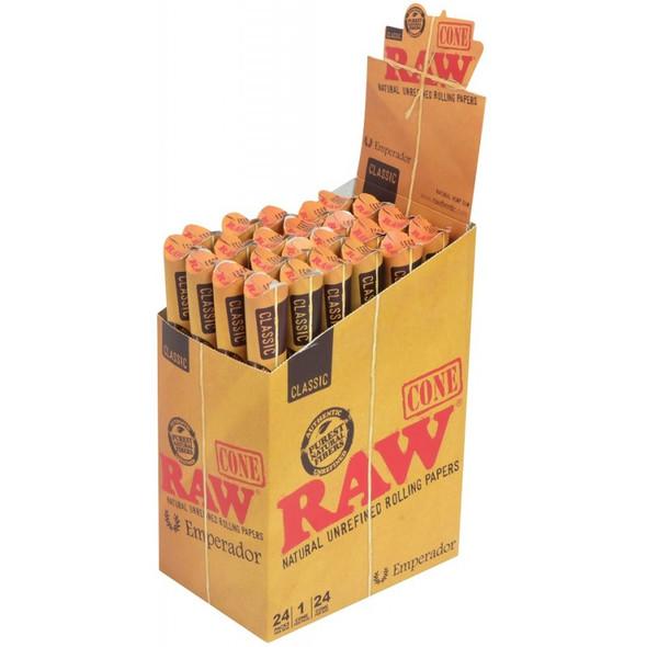 RAW CLASSIC EMPERADOR CONE 24CT/BOX ( MSRP $ 3.49 EACH )