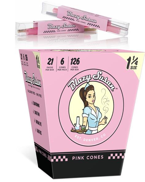 BLAZY SUSAN PINK CONES 1 1/4 ROLLING  21CT/PACK  ( MSRP $2.99 EACH )