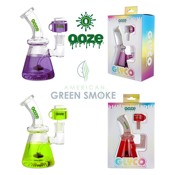 OOZE GLYCO GLYCERIN CHILLED GLASS WATER PIPE ( MSRP $79.99 EACH )