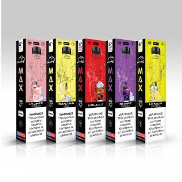 HYPPE MAX DISPOSABLE 5% NIC 1500 PUFFS 10CT/BOX ( MSRP $15.99 EACH )