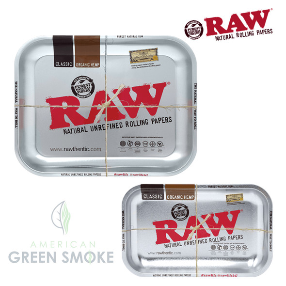 RAW - STEEL CHROME ROLLING METAL TRAY (MSRP $14.99-19.99 EACH)