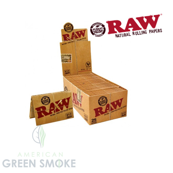 RAW ROLLING PAPER CLASSIC 1 1/2 25CT (MSRP $2.49 EACH)