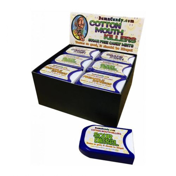 DAMN CANDY COTTON MOUTH KILLERS SUGAR FREE CANDY MINTS ASSORTED 24PK (MSRP $2.99 EACH)