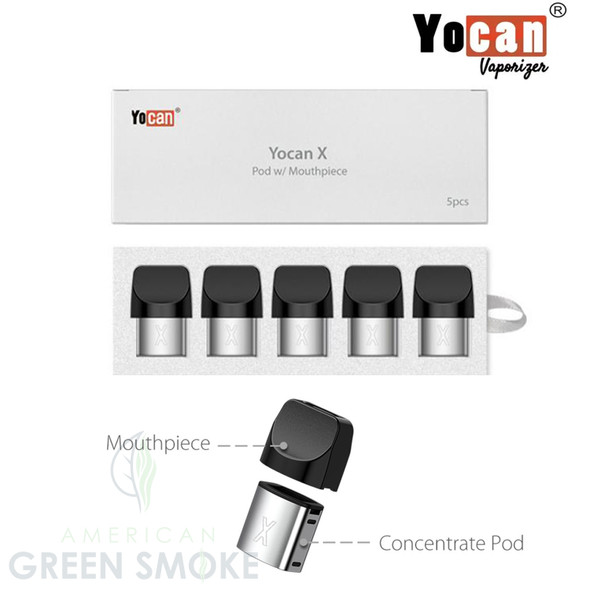 YOCAN X REPLACEMENT POD 5PK (MSRP $8.49 EACH)