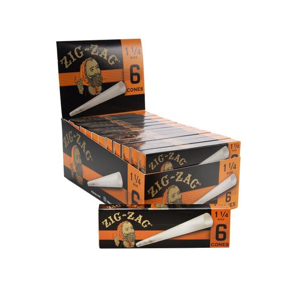 ZIG ZAG PAPER CONES 1 1/4 6PK 24/BOX (MSRP $1.99 EACH)