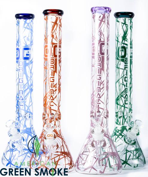 """OG GLASS 18"""" 9MM GEOMATRIC ELECTRIC BEAKER (MSRP $119.99 EACH)"""
