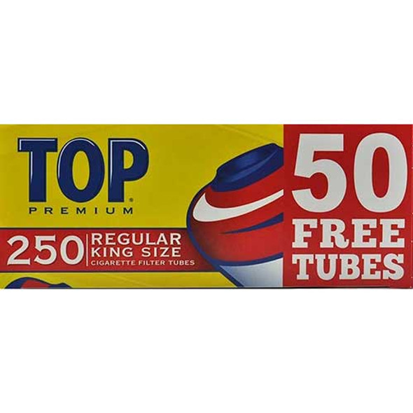 TOP- KING SIZE CIGARETTE TUBES 250CT ( MSRP $ 5.99 EACH )