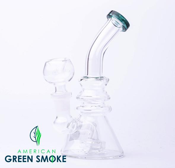 GLASS WATERPIPE 6 INCH TRIPLE RIM DESIGN (MSRP $29.99 EACH)