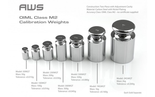 AWS CALIBRATION WEIGHTS 50GRAMS (MSRP $4.99-14.99 EACH)