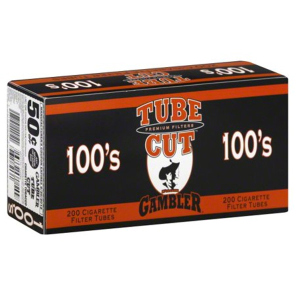 GAMBLER -100MM TUBE CUT CIGARETTE TUBES ( MSRP $ 24.99 EACH )
