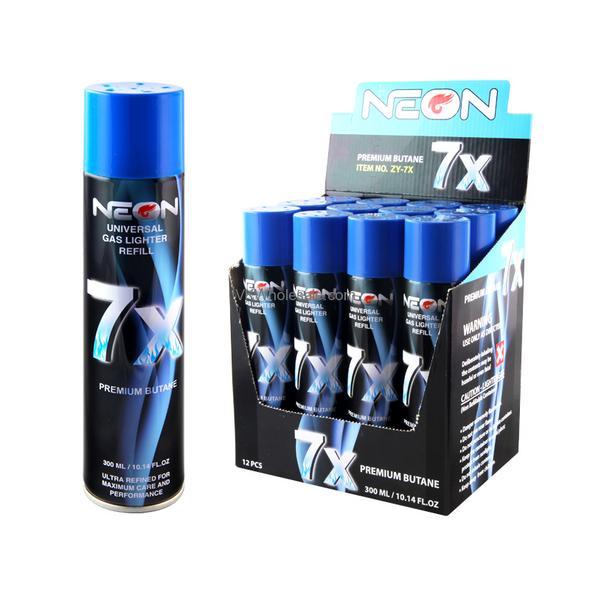NEON -7X ULTRA REFINED  BUTANE FUEL LIGHTER  12CT/BX ( MSRP $ 5.99 EACH )
