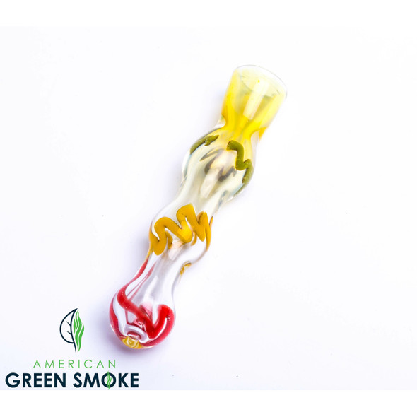 "3"" RASTA STRIPE FUME CHILLUM (MSRP $3.99 EACH)"
