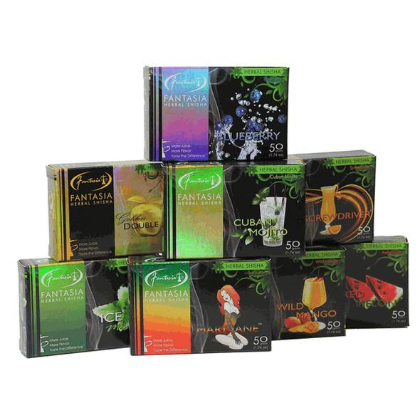 FANTAISA  HERBAL SHISHA 50 GRAMS - HOOKAH FLAVORS (BOX OF 10 COUNT) (MSRP $3.99 EACH)