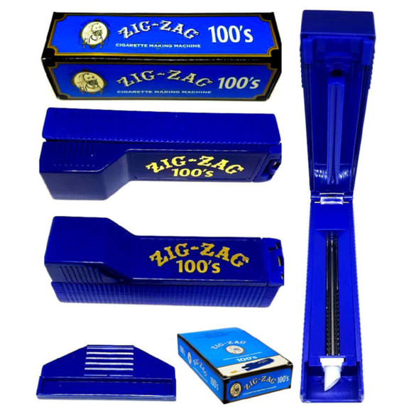 ZIG - ZAG CIGARETTE TUBES MACHINE 100'S BLUE (PACK OF 6 COUNT) (MSRP $11.99 EACH)