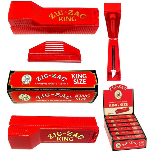 ZIG - ZAG CIGARETTE MACHINE KING SIZE RED (PACK OF 6 COUNT)  (MSRP $11.99 EACH)