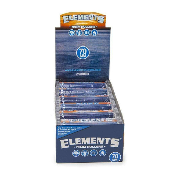 ELEMENTS - ROLLING MACHINE 70MM ROLLERS (DISPLAY OF 12 COUNT) (MSRP $2.99 EACH)