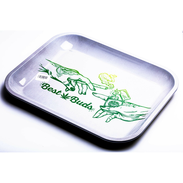 BEST BUDS - LARGE METAL ROLLING TRAY (MSRP $9.99 EACH)