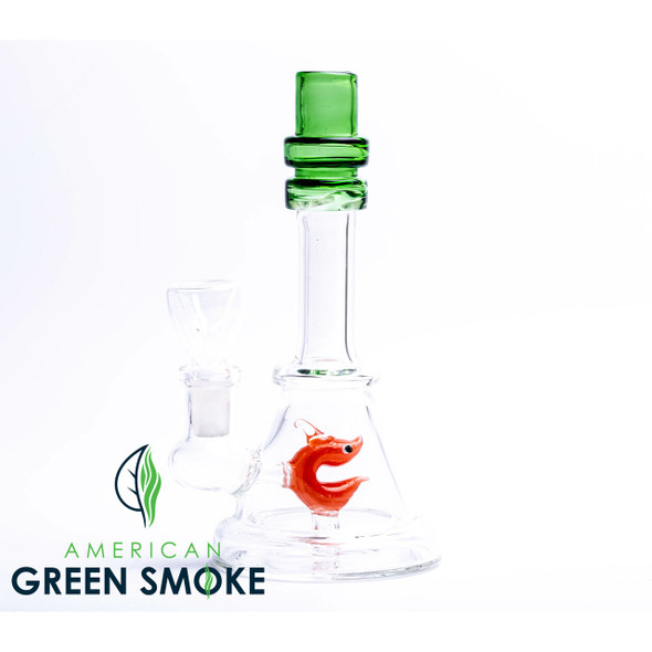 """7"""" DOUBLE RING COLOR MOUTH WITH SMILEY FISH PERC WATERPIPE (MSRP $22.99 EACH)"""