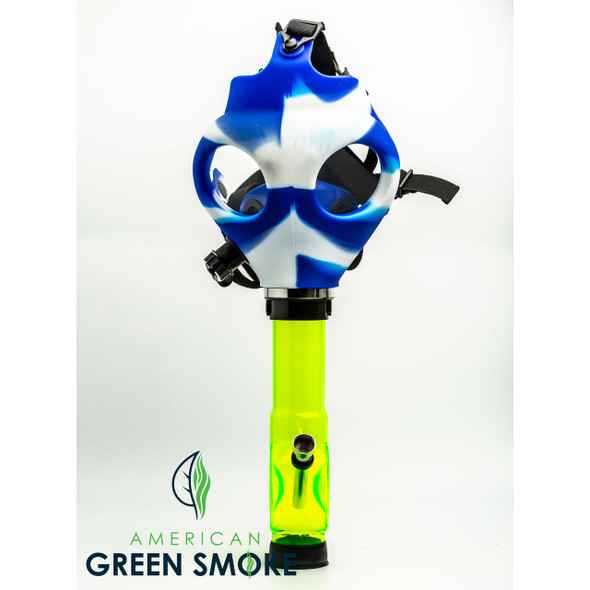 GAS MASK - BLUE AND WHITE (MSRP $29.99 EACH)