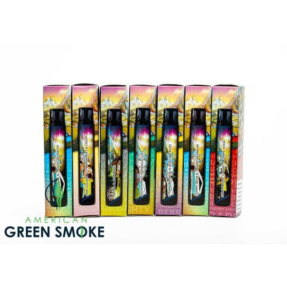 RICK AND MORTY SWITCH DISPOSABLE 2 IN 1 FLAVORS 2500 PUFFS 5% SALT NICOTINE (BOX OF 10 COUNT) (MSRP $17.99 EACH)