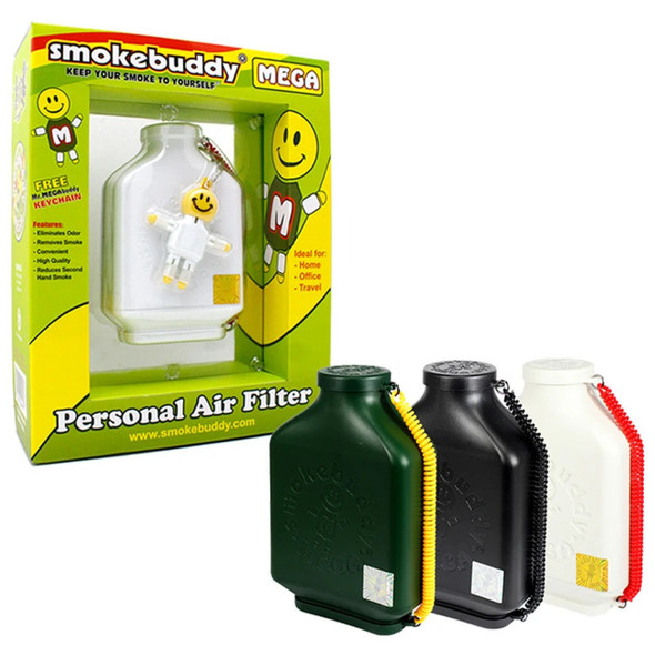 SMOKE BUDDY - MEGA PERSONAL AIR FILTER  (MSRP $39.99 EACH)