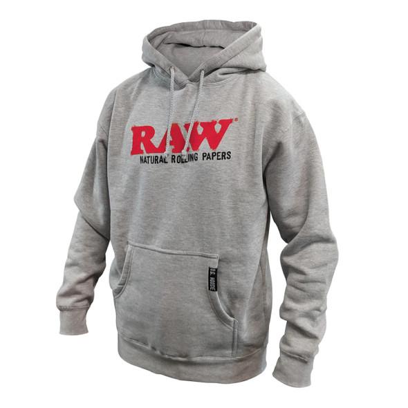 RAW MENS OG HOODIE HEATHER GRAY (MSRP $99.99 EACH)