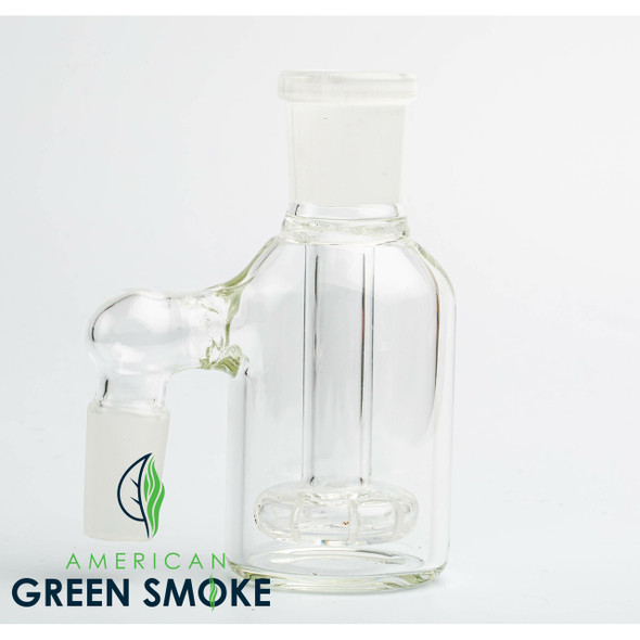 90° ASH CATCHER WITH 18MM FEMALE JOINT ON TOP AND 14MM MALE JOINT ON SIDE (MSRP $13.99 EACH)