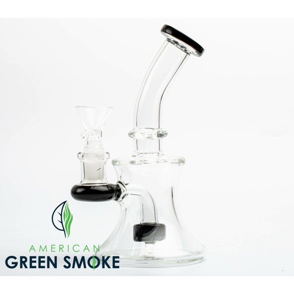 """7"""" GLASS WATERPIPE - HIGH BRORSILICATE GLASS (MSRP $25.99 EACH)"""