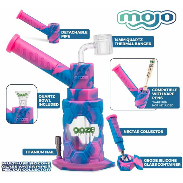 OOZE - MOJO SILICONE WATERPIPE & NECTAR COLLECTOR (MSRP $79.99 EACH)