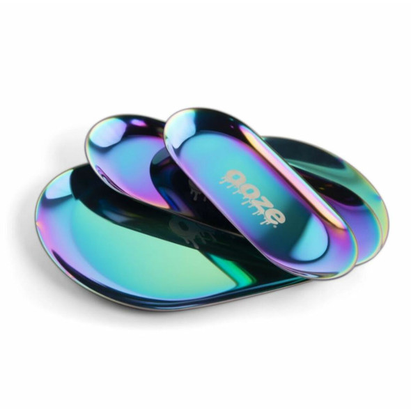OOZE AURA - LARGE RAINBOW METAL ROLLING TRAY (MSRP $29.99 EACH)