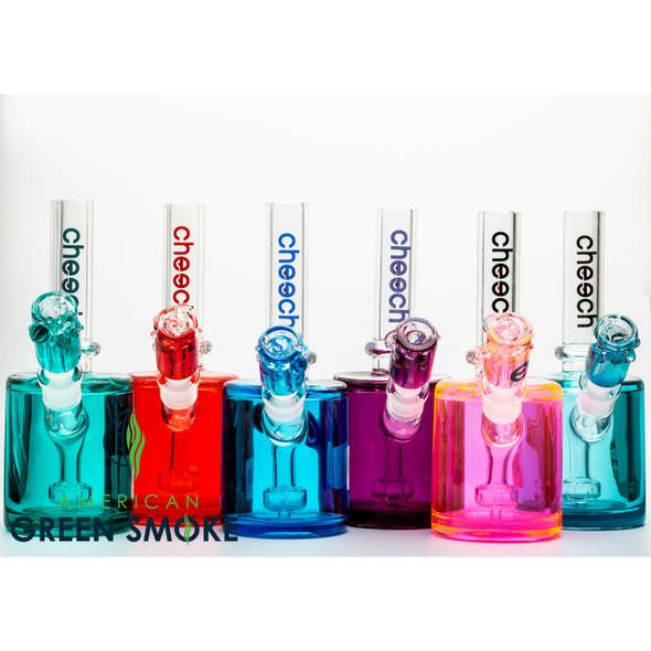 "CHEECH GLASS 8"" GLYCERINE MINI RIG WITH BOWL (MRSP $129.99 EACH)"