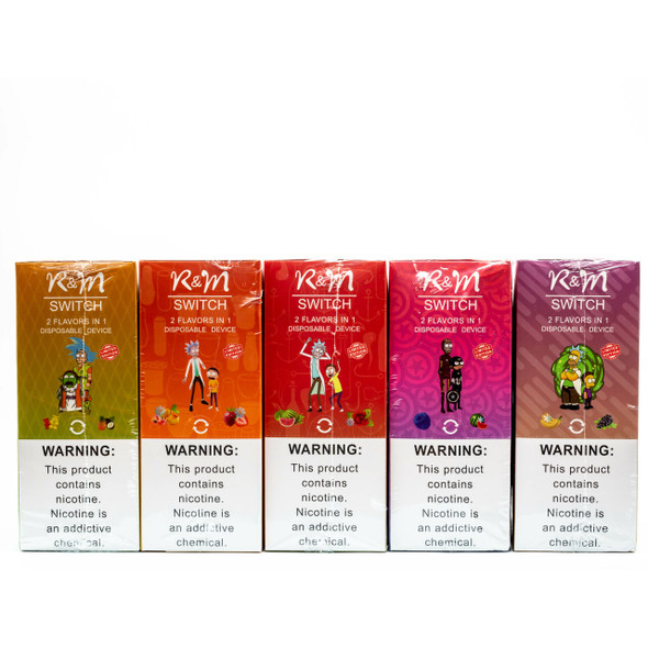 R & M SWITCH 2000 PUFFS DISPOSABLE DEVICE (MSRP $14.99 EACH)