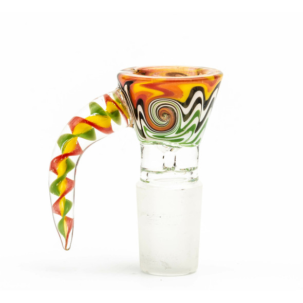 AMERICAN COLORS 18MM MALE BOWL WITH HANDLE (MSRP $9.99 EACH)