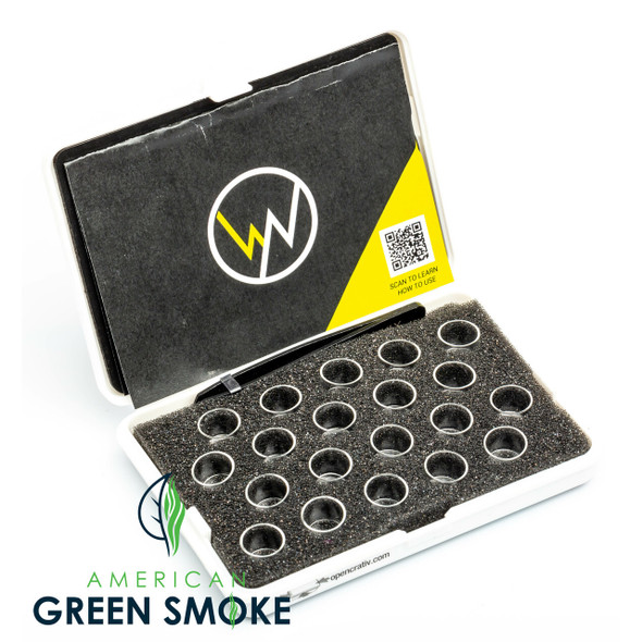 WAXNAX 20 - SLOT GLASS INSERT CASES SINGLE PIECE - WHITE (MSRP $21.99 EACH)