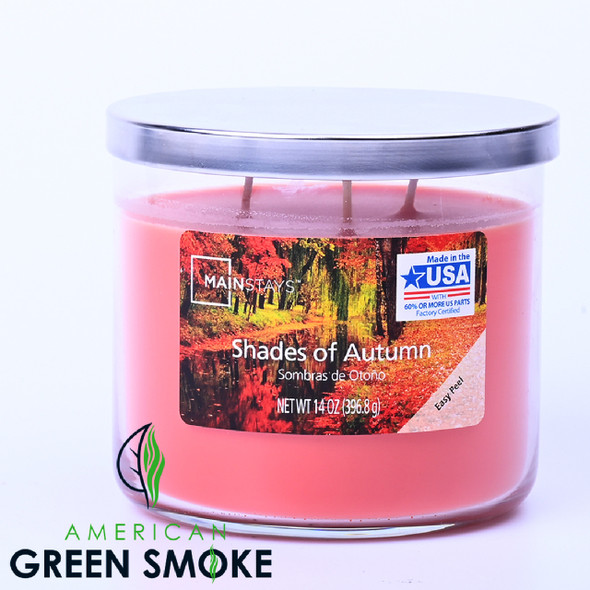 JAR CANDLE - MAINSTAYS - SHADES OF AUTUMN 14OZ (MSRP $11.99 EACH)