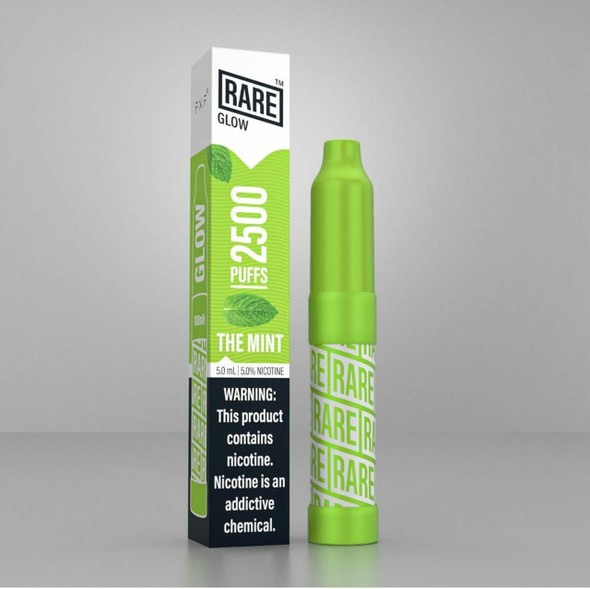 RARE GLOW 5% DISPOSABLE DEVICE 5ML 2500 PUFFS (DISPLAY OF 12 COUNT) (MSRP $14.99 EACH)