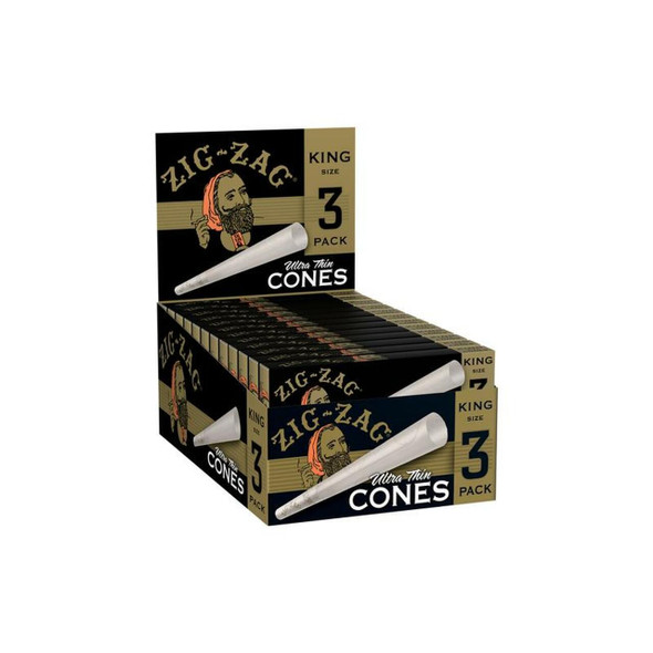 ZIG ZAG PAPER CONE KINGSIZE (DISPLAY OF 24 PACK) (MSRP $1.99 EACH)