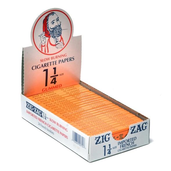 ZIG ZAG CIGARETTE PAPER 1 1/4 (DISPLAY OF 24 COUNT) (MSRP $3.99 EACH)