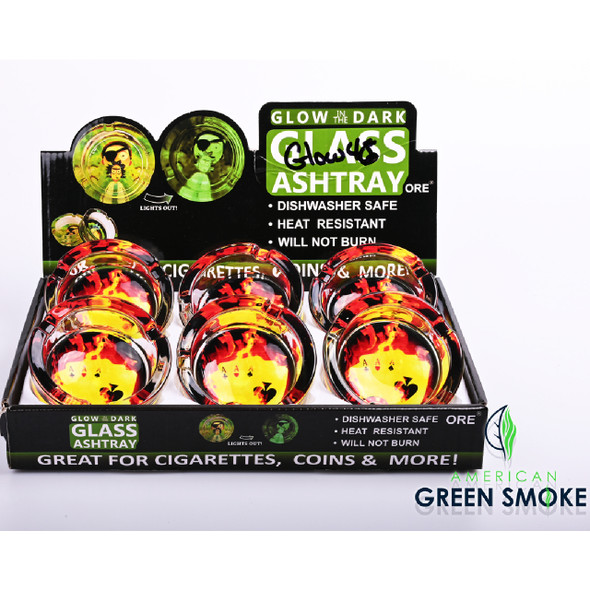 ACES - GLOW IN THE DARK ASHTRAYS  (MSRP $4.99 EACH)